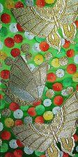 Vintage Japanese Silk Kimono Obi Fabric Panel Quilting Patchwork #626