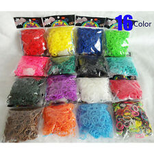 DIY 600*Glitter jelly transparent rubber band refill 16 Colors For Rainbow Loom
