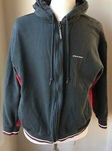 Chaps Sport Gray/Red Full Zip Hoodie Size Reg. XL 2 Pockets JJ 5
