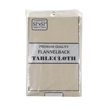 Carnation Home Fashions Vinyl Tablecloth with Polyester Flannel Backing, 52X52