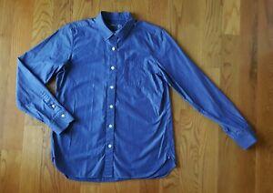 MUJI Women's 100% Cotton Blue Button-Up Shirt Large L