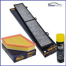 Innenraumfilter Aktivkohle + Luftfilter BMW 1er E81 E87 E90 E91 Klimareiniger