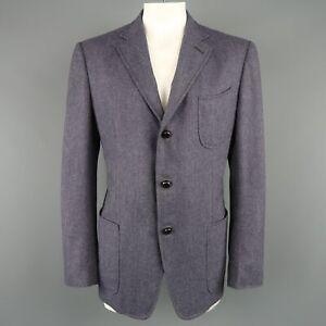 TOM FORD US 46 / IT 56 Light Purple Herringbone Wool / Cashmere Sport Coat