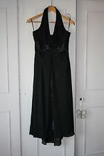 NEXT - Ladies Size 8 Black Halterneck Calf Length Evening Dress