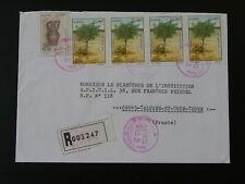 fruit pistachio registered airmail cover Algeria 88714