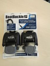 Boat Buckle G2 retractable tie-down system boat trailer transom
