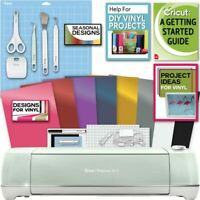 Cricut Explore Air 2 Machine Bundle - Beginner Guide, Tool Kit, Vinyl, Designs