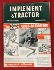 Implement & Tractor January 21, 1950 Vintage Farm Equipent Catalog