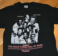 RaRe *1987 CHUCK BERRY & FATS DOMINO & JERRY LEE LEWIS* vtg concert t-shirt (L)