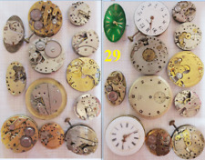 lotto stock ricambi movimenti orologi movement manual lot vintage old watch part