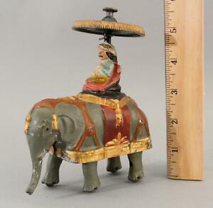 RARE Antique 19thC WILLIAM BRITTAINS Double Flywheel Walking Elephant Tin Toy