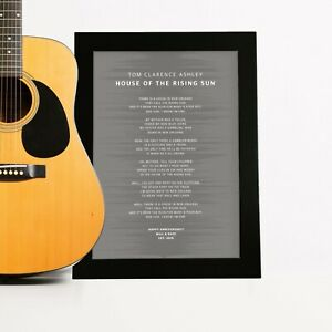 Anniversary Song Lyrics Sound Wave Print Gift for Wife Husband Personalised