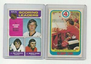 (2) 1970's O-Pee-Chee Bobby Orr Cards