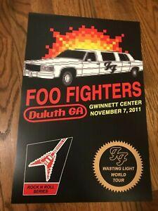Foo Fighters Duluth Atlanta Georgia 2011 Gwinnett Center Concert Poster 12x18