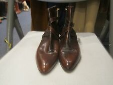 Dark Brown Leather Cirac Joan & David Ankle Boots w/Strap & Buckle 7 M