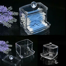 HOT LOCA Clear Acrylic Cotton Swab Storage Q-tip Holder Box Makeup Storage