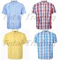 Mens Short Sleeve Check Shirts Summer Holiday Smart Casual Top Shirt