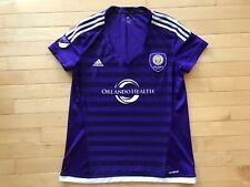 Adidas Orlando City Purple Soccer Jersey Women's Sz Large L Lions Futbol Club