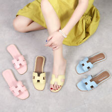 Hot Slide Slippers Leather Summer Pink Beach Pool Fresh Blue Comfort Women Shoes