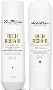 GOLDWELL DUALSENSES RICH REPAIR SHAMPOO 300 ML AND CONDITIONER 300 ML