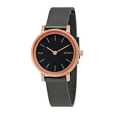 Skagen Hald Rose Gold-Tone and Gunmetal Ladies Watch SKW2492