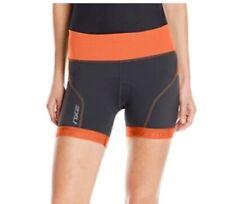 2XU Womens Perform Triathlon Shorts Gray Orange Color Block Breathable Stretch M