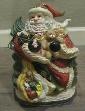 Omnibus Fitz & Floyd Vintage St. Nick Santa Claus Christmas Holiday Cookie Jar