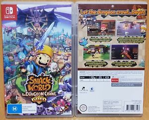 Snack World The Dungeon Crawl GOLD AUS Switch NEW & OPENED FREE Express