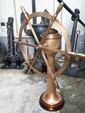 Antique steering station ship wheel binnacle compass yacht nautical antique