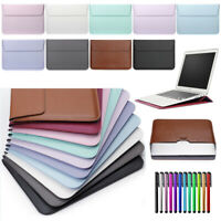 "For MacBook Air 11"" 13"" Pro 13 15 Retina PU Leather Laptop Sleeve Bag Case Cover"