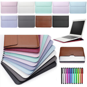 """For MacBook Air 11"""" 13"""" Pro 13 15 Retina PU Leather Laptop Sleeve Bag Case Cover"""