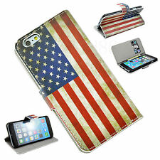Wallet Flip Stand Leather Holster Card Pocket Cover Case For Apple iPhone 6 4.7""