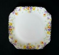 Beautiful Royal Doulton Art Deco Wild Pansy Cake Plate