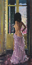 "ROBERT KING ""Andalucian Window"" nude woman SIGNED! SIZE:54cm x 31cm SEE OUR SHOP"