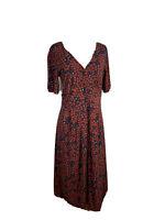 Jigsaw Womens Size M Button Down A -Line Maxi Dress Short Sleeves