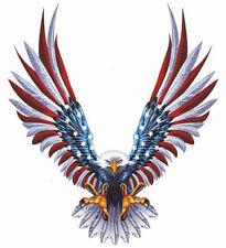 STICKER AIGLE USA AMERICAIN MOTO BIKER HARLEY ETATS UNIS FLAG 12X11CM AA165