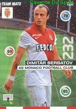 126 DIMITAR BERBATOV BULGARIA AS.MONACO CARD ADRENALYN 2016 PANINI D
