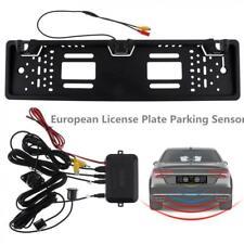 EU Car License Plate Frame Rear View Reverse Backup Camera with 2 Parking Sensor