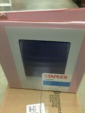 STAPLES STANDARD VIEW 1.5 INCH 3 RING BINDER LIGHT PINK
