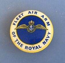 Vintage -Fleet Arm Of The Royal Navy -Pin Back Tin Badge