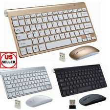 Wireless Keyboard And Mouse Combo Set 2.4G Ultra Slim For Apple iMac/Laptop/PC
