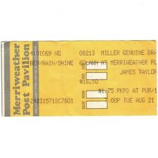 James Taylor Concert Ticket Stub Columbia 8/21/90 Merriweather Sweet Potato Pie