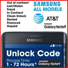 Factory Unlock Codes for Samsung AT&T USA – Premium Service / NOTE-9 Supported