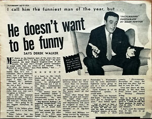 Peter Sellers He Doesn't Want To Be Funny Says Derek Walker Vintage Article 1956