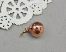 "Rose Goldfill Bowling Ball Charm Heavy Solid Vintage 1/2"" Zipper Pull / Bracelet"