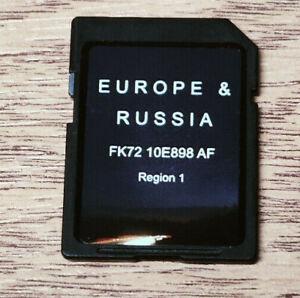 GENUINE LAND ROVER DISCOVERY JAGUAR SAT NAV NAVIGATION SD CARD FK7210E898AF