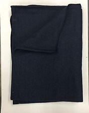 Wool Blanket - Civil War Reenactment, F&I, Rev War, Rendezvous - Dark Blue Color