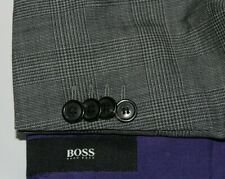 HUGO BOSS 44L JAMES1 Glenplaid Wool 2B Dual Vent Jacket Blazer