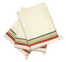 3 - Aunt Martha's Vintage Style Multi Color Stripes Kitchen Dish Tea Towels -NEW