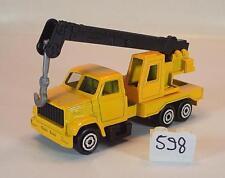 MAJORETTE 1/100 n. 283 Crane Truck GRU GIALLO/NERO #598